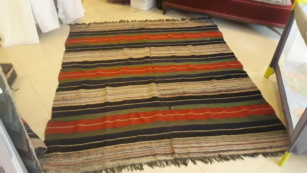 Стар ръчно тъкан килим ( пътека) 200×175см