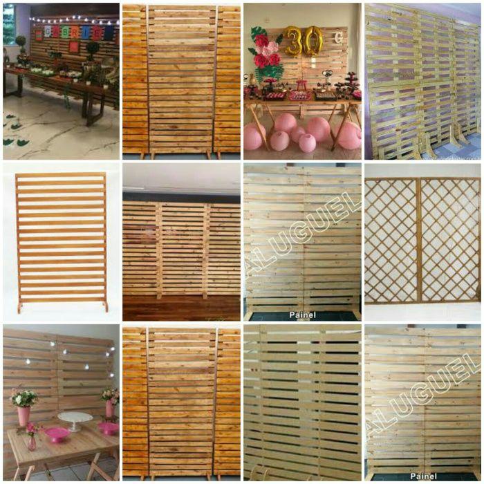 Palhetas para decoração