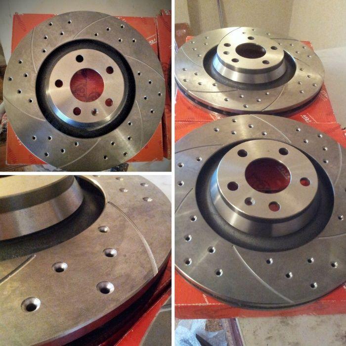 Пробиване и рязане на спирачни дискове