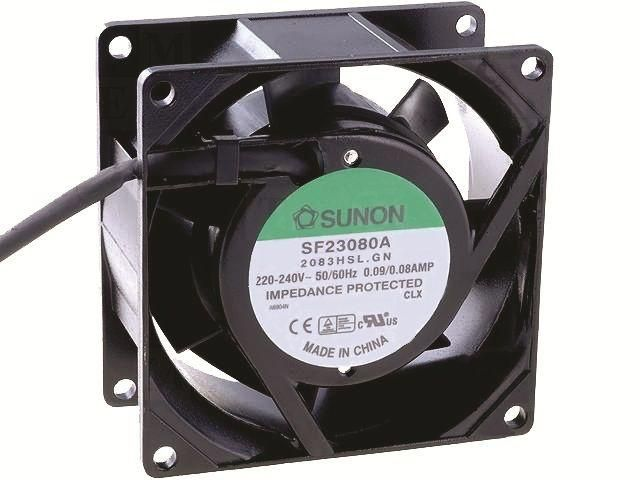 Ventilator 80x80x38 230VAC 18W SF23080A-2083HSL (SF23080A-2083HSL.GN)