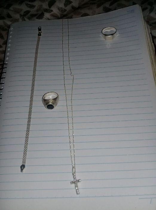 Anel da Versace - Fio de Prata - Anel simples - Mascote de prata
