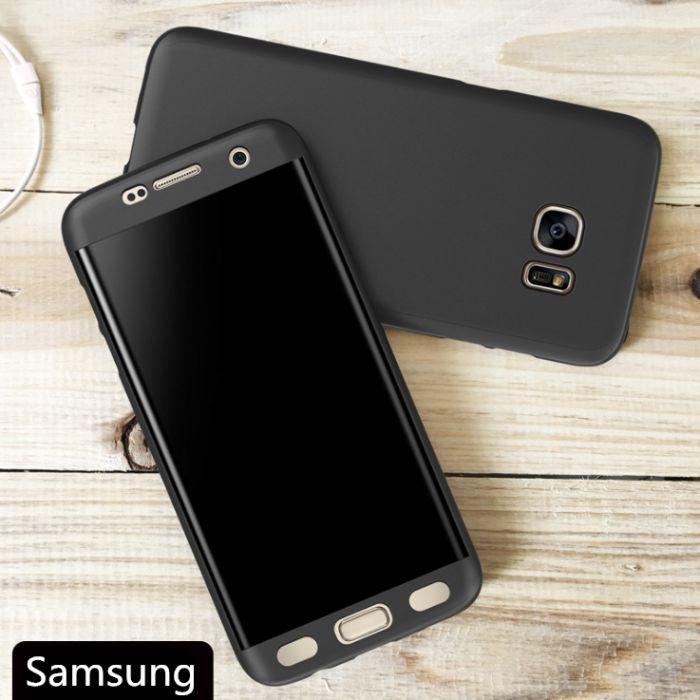 Кейс 360° мат за Samsung Galaxy S5 S6 S6 Edge S7 Edge S8 S8+ Plus S9