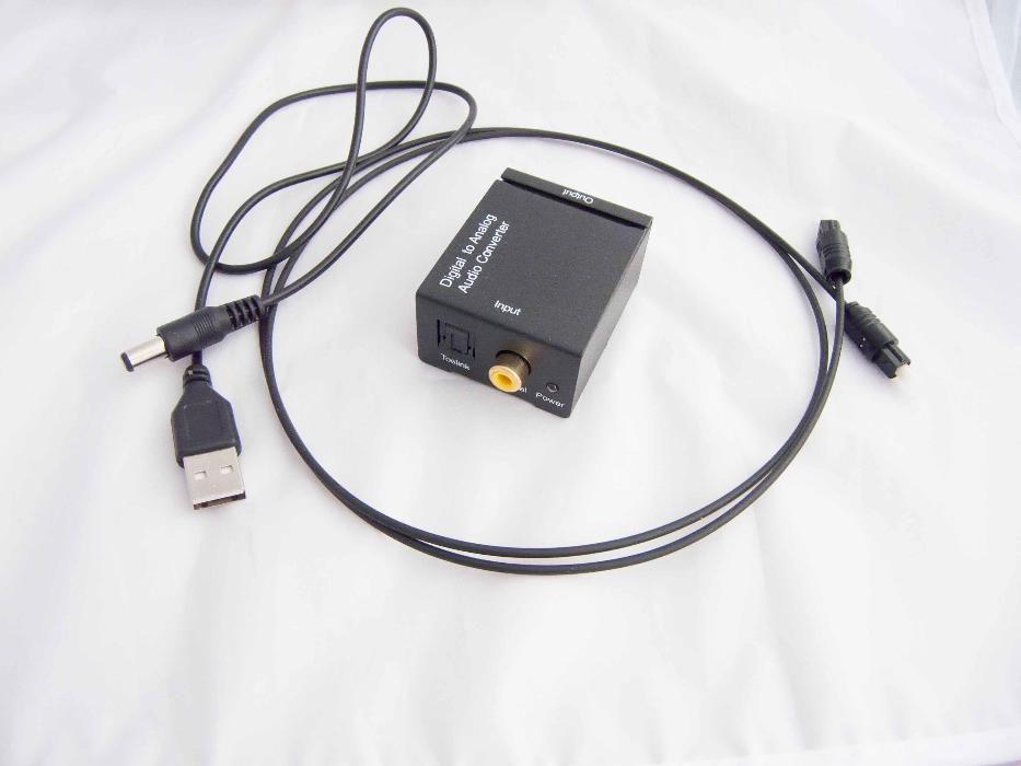 Оптичен конвертор цифров към аналогов RCA L/R аудио Toslink