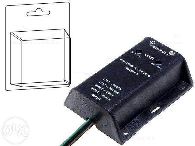 Adaptor statie auto hi to low convertor nivel semnal iesire difuzoare