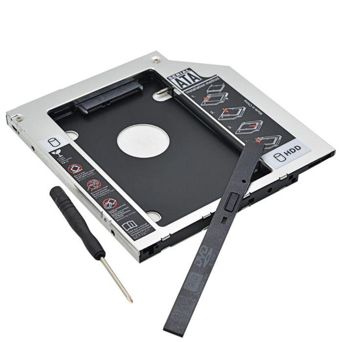 Adaptor HDD/SSD caddy suport pt unitate optica laptop 9.5mm SATA 3