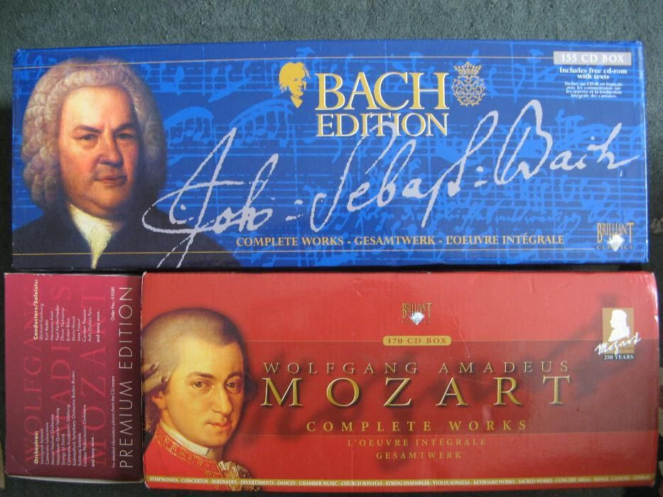 CD Box Complete Works, Premium Edition, Mozart 40, 170, Bach 155 ...
