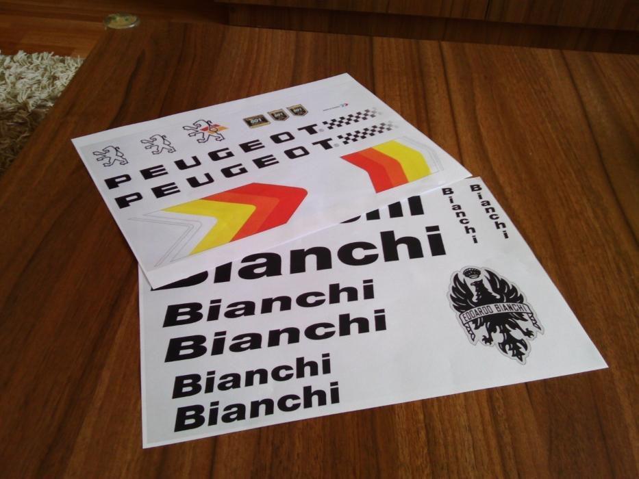 Stickere Peugeot, Bianchi, Colnago, R.I.H, C.N.C