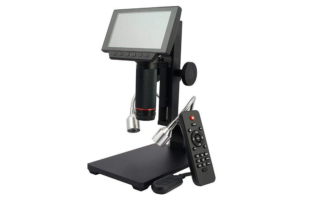 Метален дигитален микроскоп с 5 инча дисплей 1080P HDMI/AV гр. Варна - image 2