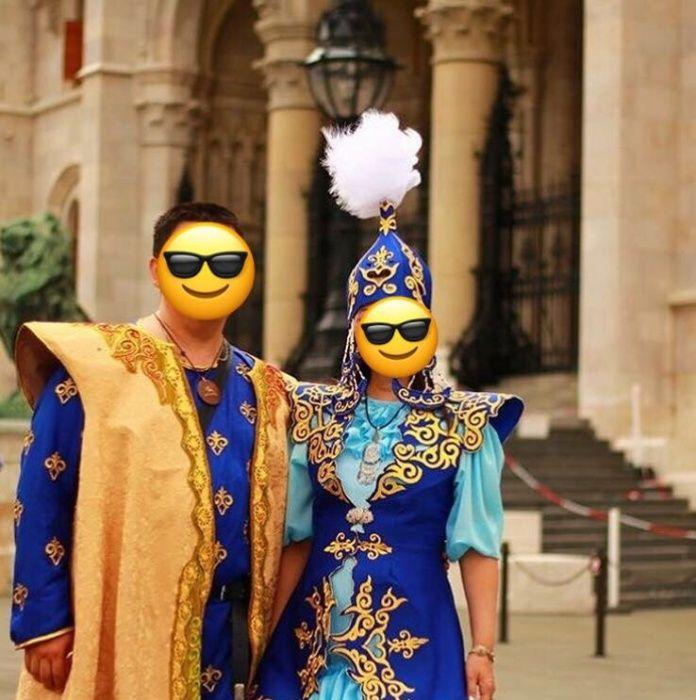 Шикарные национальные костюмы, женский и мужской
