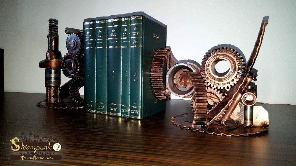 Suport carti Steampunk (bookend).Obiect decorative .Art deco