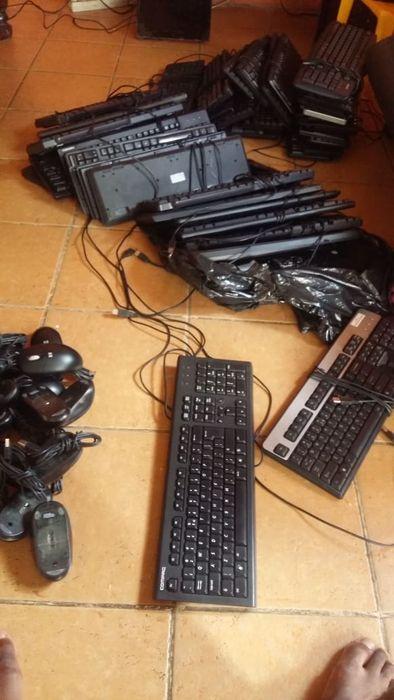 Mauses e teclado Dell e HP