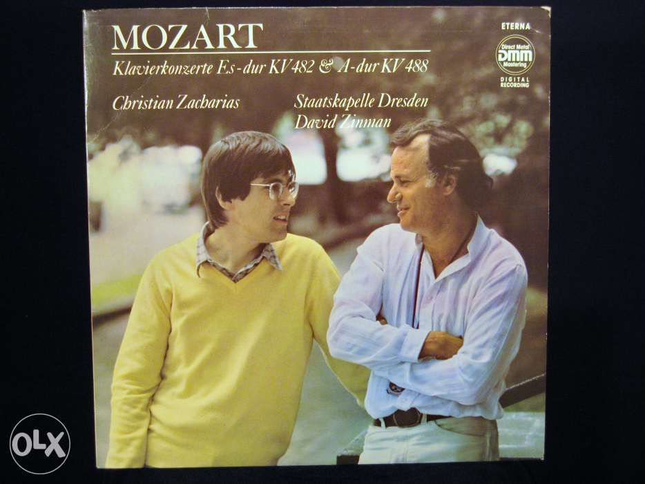 Disc Vinil pik-up MOZART Concert pian & orch DMM - 1985 Germany