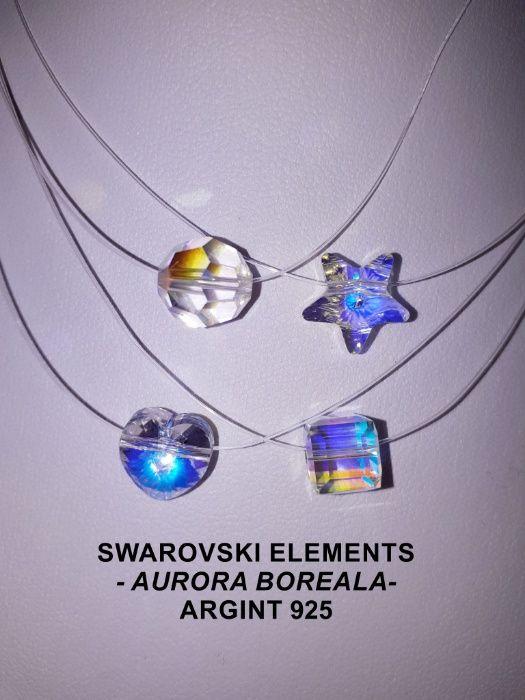 Coliere cu elemente Swarovski si argint Sibiu - imagine 6