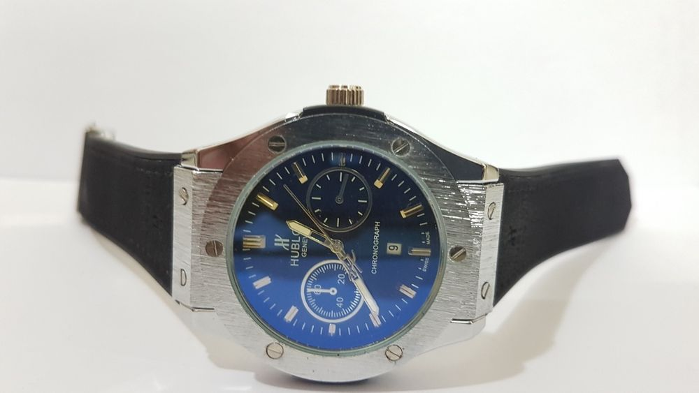 Hublot silver with blue
