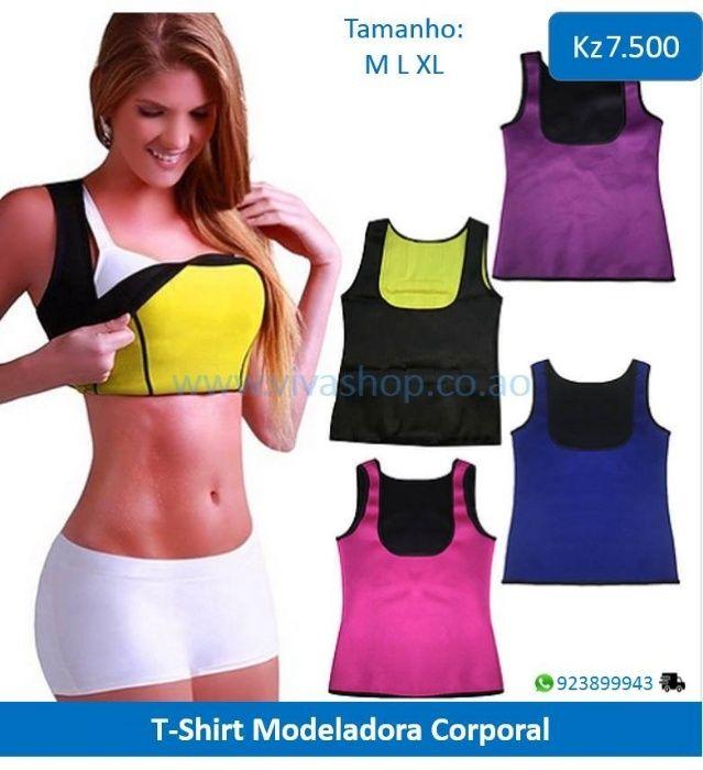 T-shirt modeladora corporal de neoprene. Ajuda a queimar gordura abdom