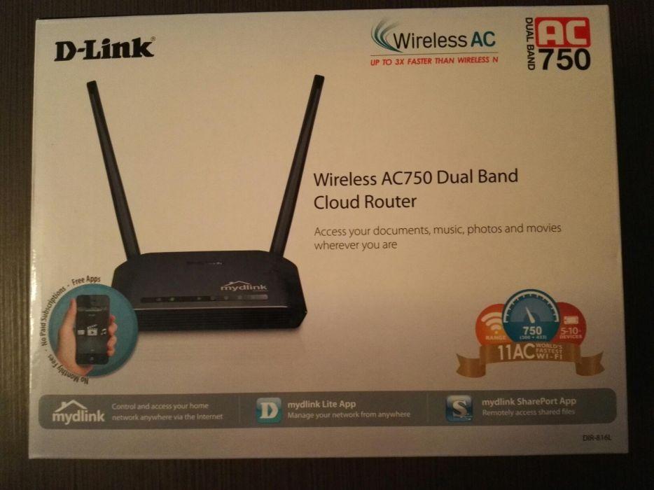 Router Wireless D-link DIR-816L,Dual-Band,Cloud,AC 750Mbps 2antene NOU
