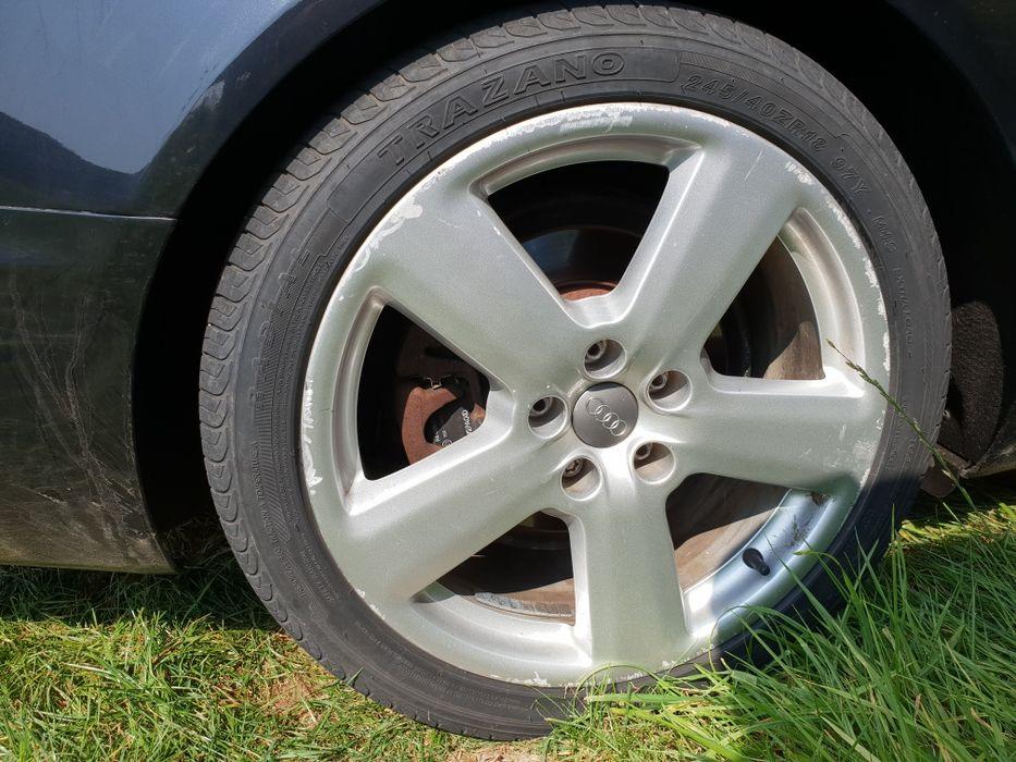 Jante 18 Ronal Audi A4 6 a8 etc 5x112 cauciucuri bune