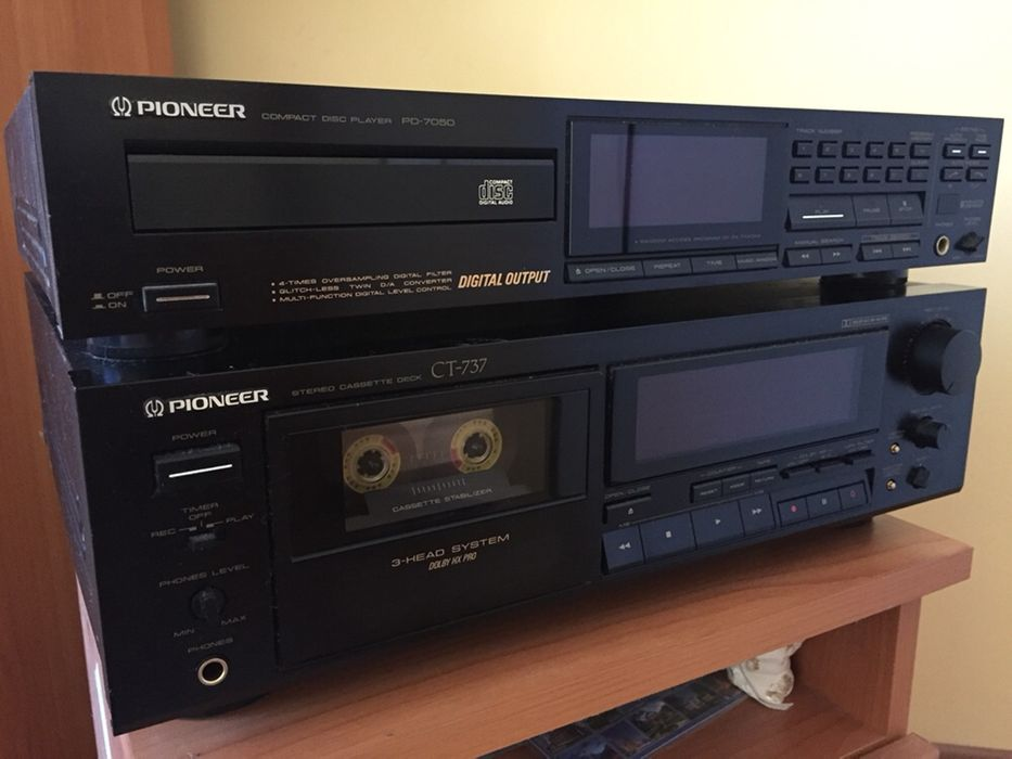 Триглав дек Pioneer CT-737 + CD player Pioneer PO- 7050
