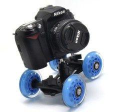 Roti Dolly skater aparat foto, DSLR, slider, filmare low mode