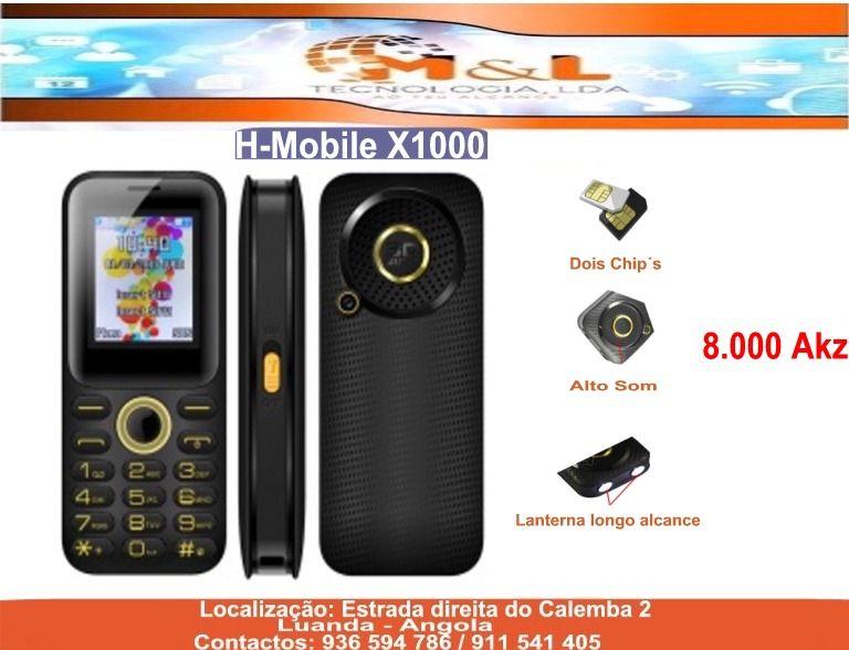 Telemóvel H-Mobile X1000 Novo com entrega grátis