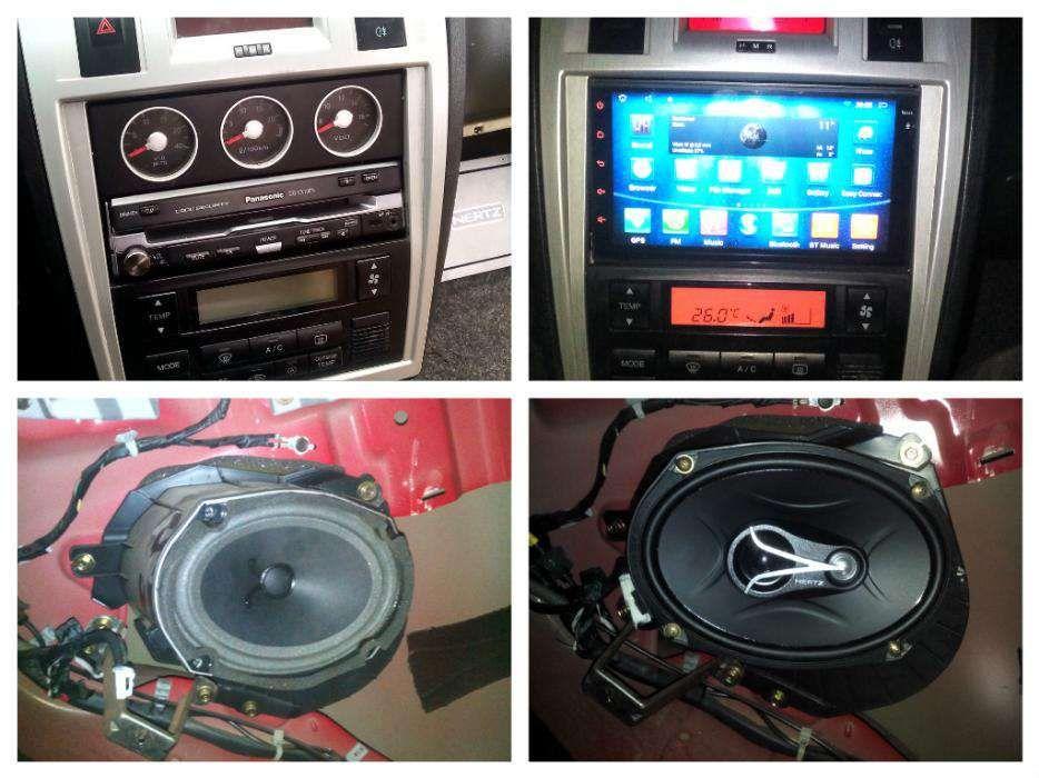 Montez sisteme audio, playere auto, subwoofer,senzori, leduri, drl, US