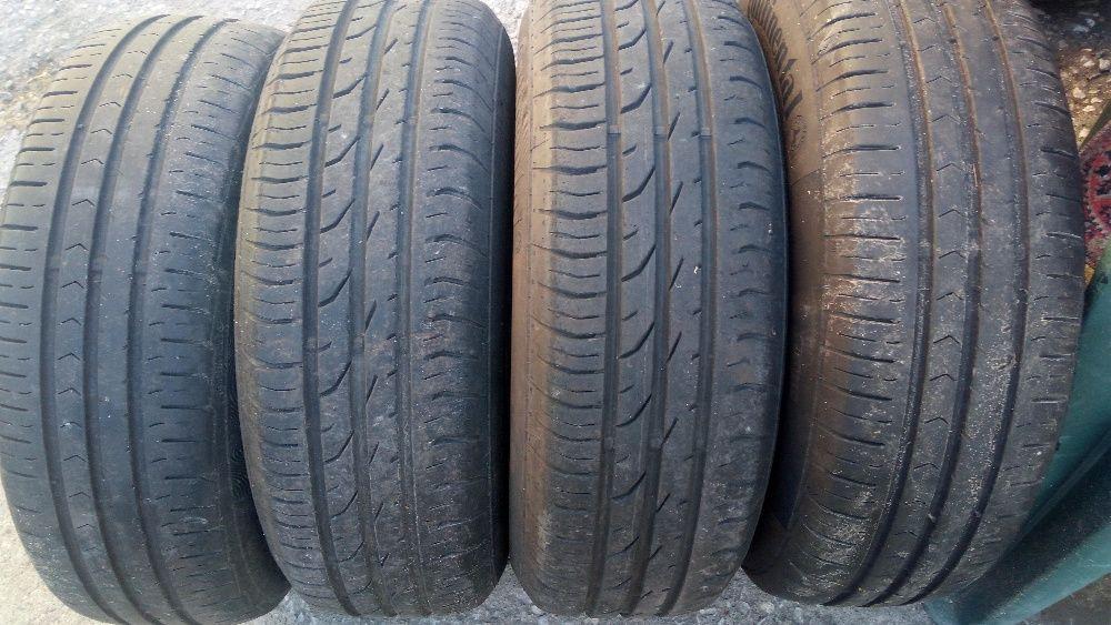 4 бр летни гуми континентал/2015г/ 185-65-15//6мм грайфер