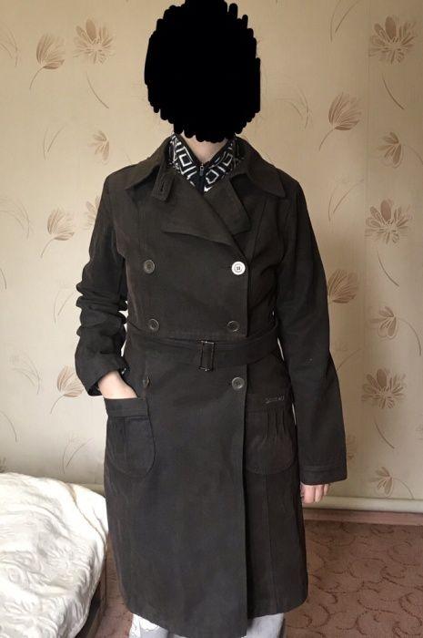 Джинсовая Куртка Пальто Коричневая