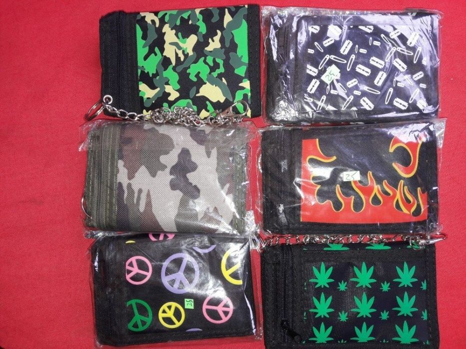 Portofele cu lant de pantaloni: cranii,Marijuana,camuflaj,England