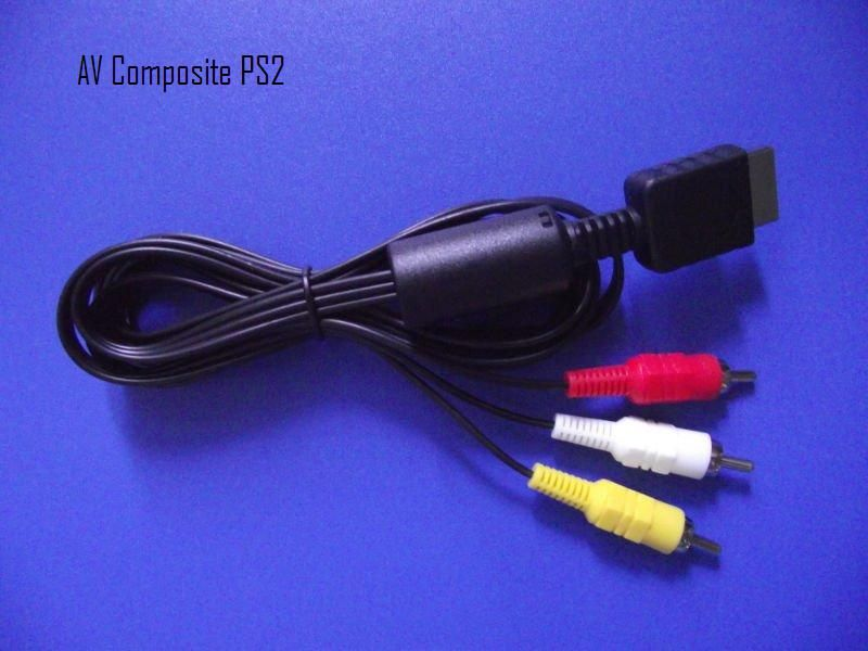 PS3 , ПС3 , Playstation 3 - Стандартен AV композитен кабел с 3 чинча