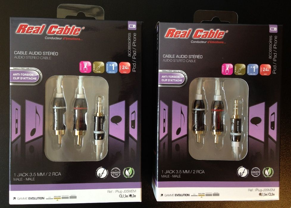 Cabluri interconect Jack-2RCA Real Cable Evolution 1,5m/3m lungime,noi