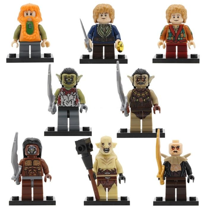 Set 8 Minifigurine noi tip Lego Lord of the Rings pack2