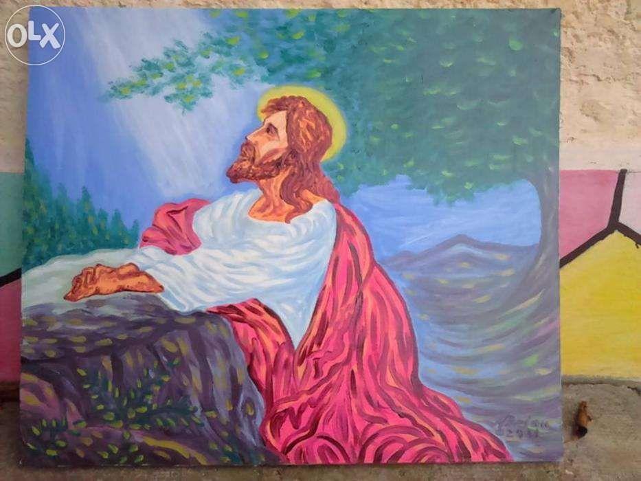Vand tablou pictura in ulei pe panza cu Isus