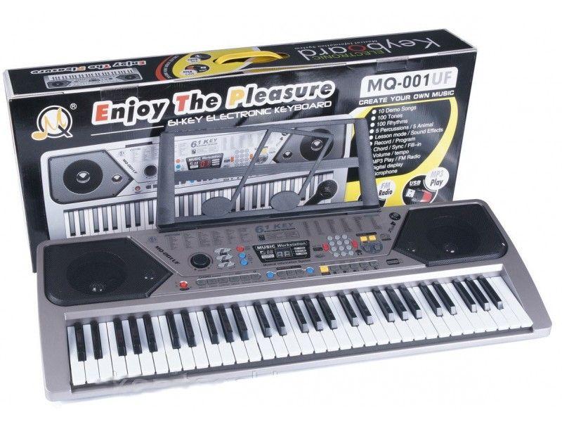 ORGA 61 clape,mp3 usb,radio fm,afisaj,MQ-001 keyboard,un cadou super!