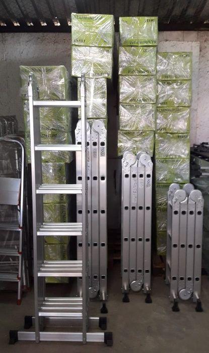 Escadotes articulados em alumínio alta qualidade modelo KMP406B