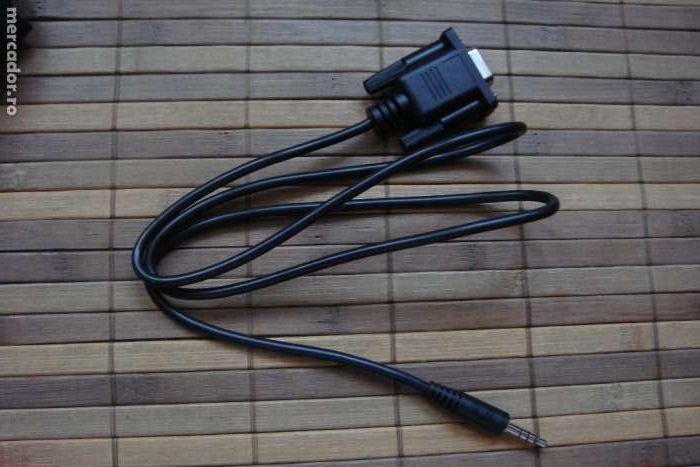 cablu adaptor jack 3,5 mm cu 4 pini la mufa db9-f (rs 232) amiko