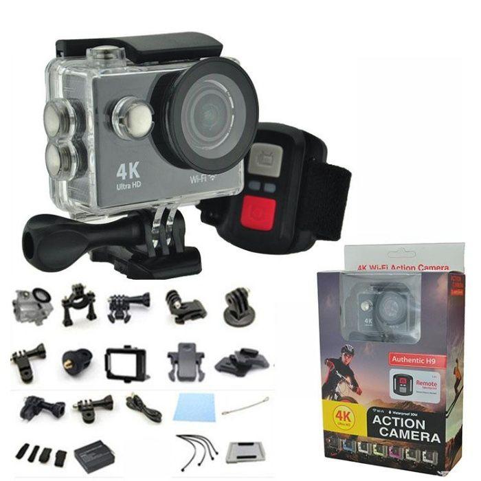 Action Camera Wi-Fi Authentic H9 4K Ultra HD Accesorii + Telecomanda