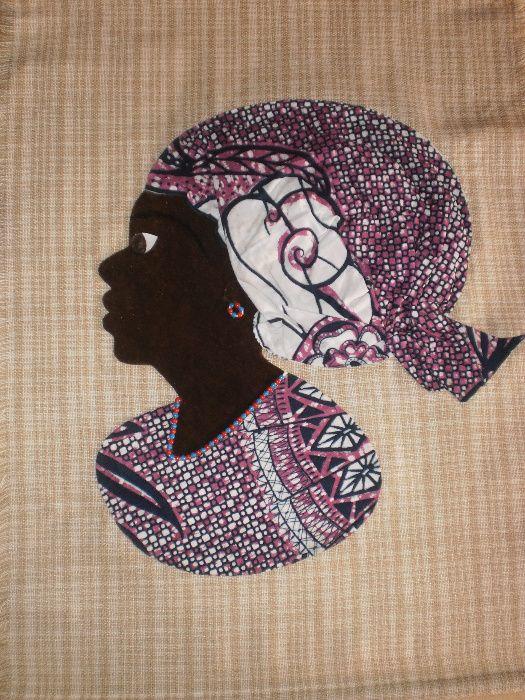 Африканка-картина от текстил върху текстил-варианти гр. София - image 12