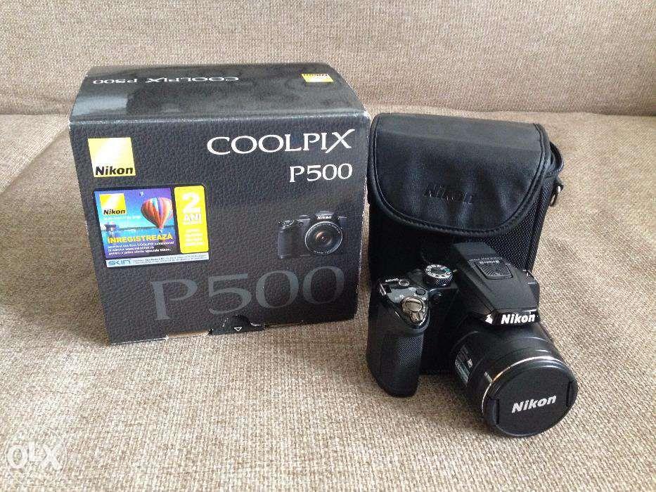 Nikon Coolpix P500 + geanta Nikon CS-P08