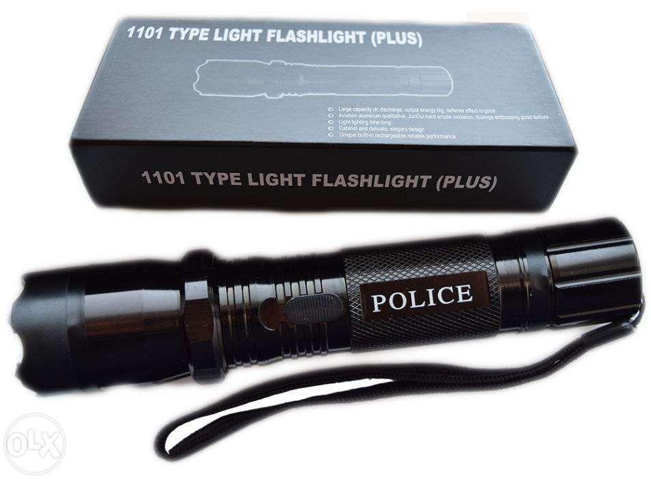 Lanterna Police autoaparare cu electrosoc+ husa!! Transport gratuit!!