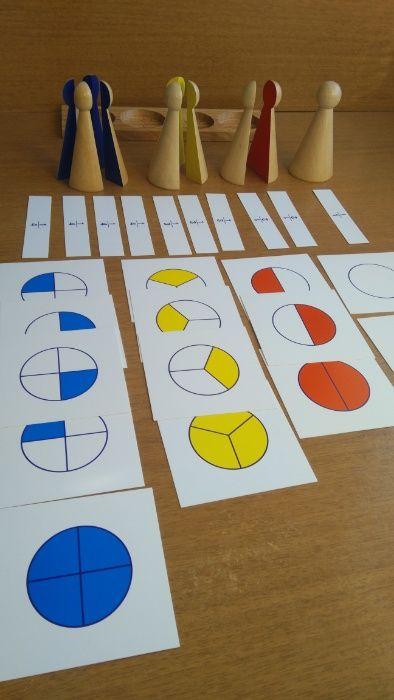 Монтесори елементи с деления 1, 1/2, 1/3 и 1/4 + карти и поставка гр. Бургас - image 5