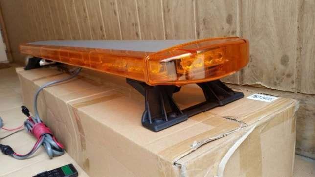 Rampa girofar LED 264W galben 1,2 metri - Avertizare luminoasa Bucuresti - imagine 2