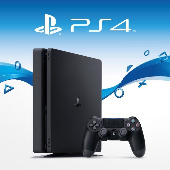Промоция / Sony Playstation 4Slim Нов/PS4/Диск-500GB/5 Игри Подарък/