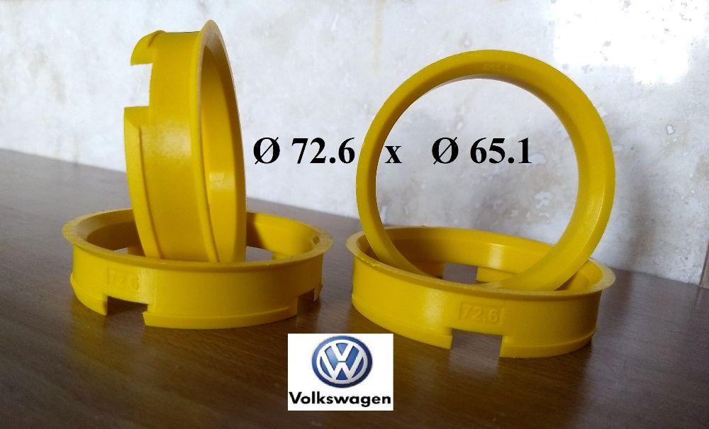 Inele de centrare ghidaj VW T5 cu jante BMW Ø 72.6 x Ø 65.1
