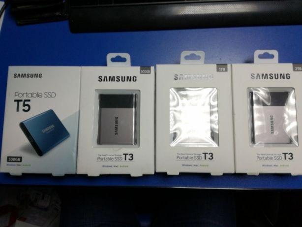 SSD Extern Portabil Samsung T3 si T5 250GB 1TB si 2TB sigilate