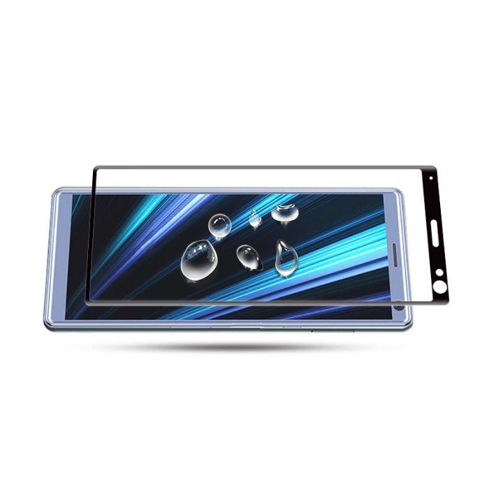 Закален извит удароустойчив 6D стъклен протектор за Sony Xperia 10 гр. Шумен - image 3