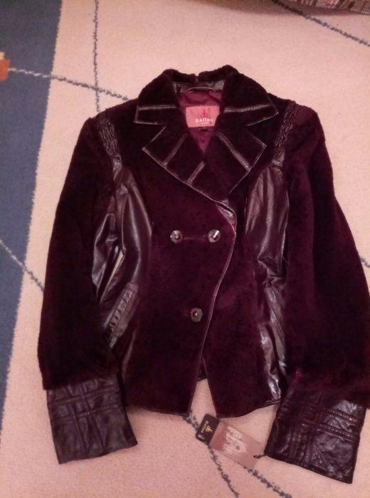 Кожаная куртка женская с мутоном новая (Ю.Корея)