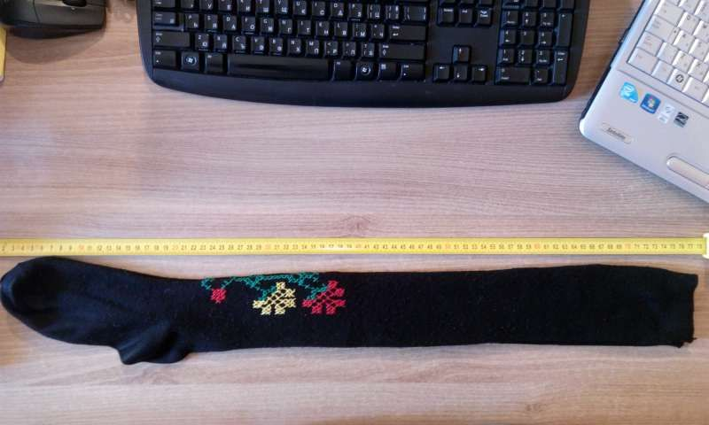 Ръчно везани чорапи(част от народна носия)