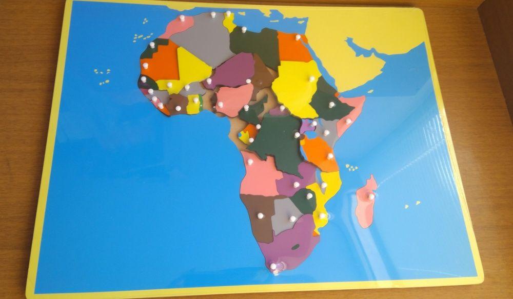 Обозначена карта на Африка от дърво с основните държави ВСИЧКИ ДЪРВЕНИ гр. Бургас - image 7