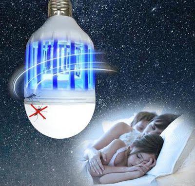 Bec LED E27 SMD 15W economic 1000lm cu Lampa UV anti-tantari / insecte