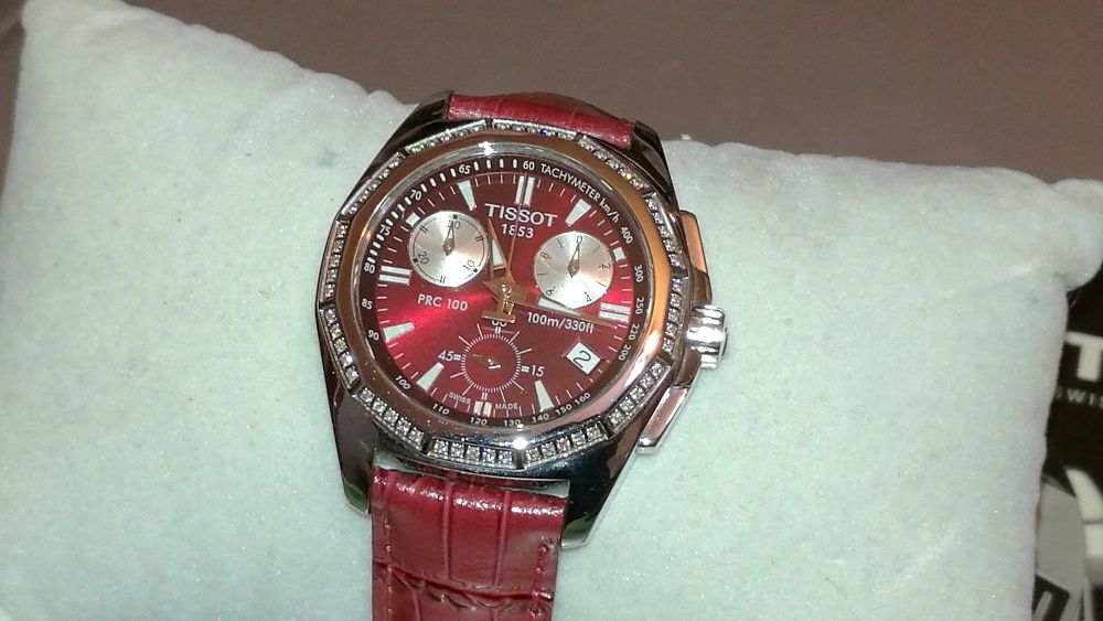 Tissot Ladies PRC 100 Diamond Strap Watch